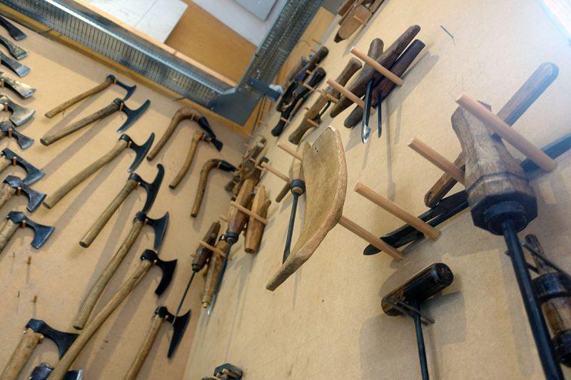 バイキングの船を作る道具