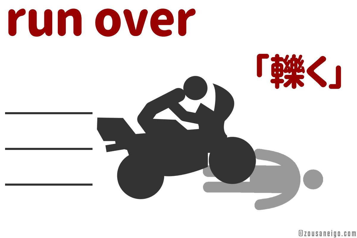 run over 「轢く」